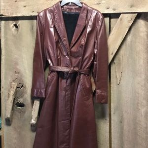 Vintage Leather Trench Coat !🎄